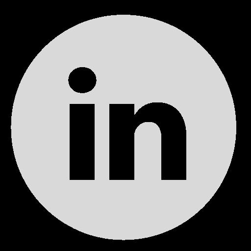 Linkedin Circle Gray 512