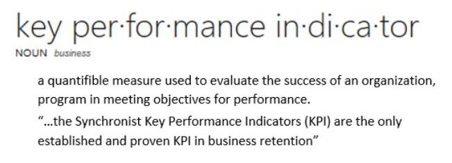 Sychronist KPI